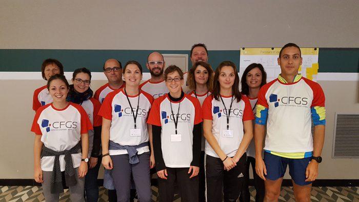 L'équipe CFGS lors des Olympiades