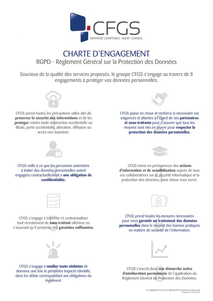 Charte d'engagement - RGPD